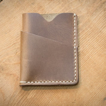 Leather Card Holder Driftwood