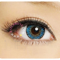 GEO Berry Holic Blue Circle Lenses Colored Contacts Cosmetic Color Circle Lens   EyeCandy's