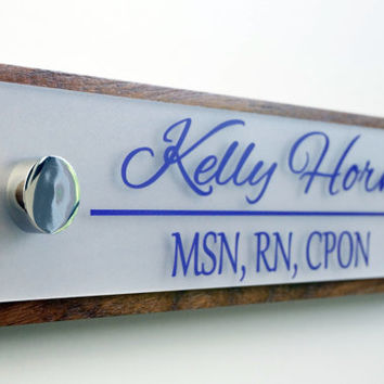 Desk Name Plate and Accessory from Garo Signs, LLC