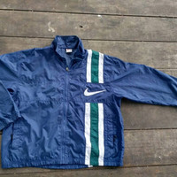 Nike swoosh windbreaker sports wear casual vintage big logo
