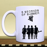 PREORDER***White Coffee Mug***5 second of summer 5sos band