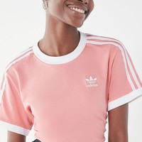 adidas 3 Stripe Ringer Tee | Urban Outfitters