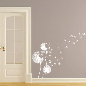 Wall Decal Vinyl Sticker Decals Art Home Decor Design Murals Dandelion Flower Nature Plants Grass Forest Nursery Bedroom Bathroom Dorm AN11