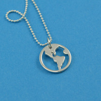 Globe Traveler's Necklace in Sterling Silver
