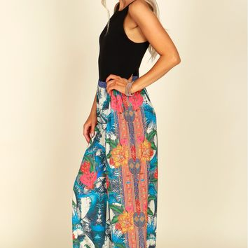 Tropical Wide Leg Pant Ivory