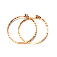 Hoop earrings, gold filled, gold hoops, gold earrings, 1 inch diameter, 18 gauge thick, 14K Gold Filled, Handmade earrings, boho style