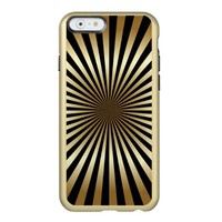 Art deco,pattern,stripes,gold,black,vintage,chic, incipio feather® shine iPhone 6 case
