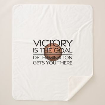 TOP Basketball Victory Slogan Sherpa Blanket