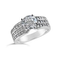 Vintage Style 1 ct Solitaire Cubic Zirconia Diamond Ring - CZ ring