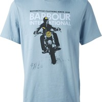 Barbour By Steve Mc Queen Motorcycle Print T-Shirt