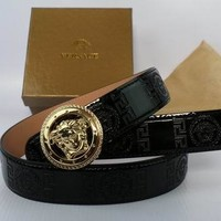 versace mens medusa belt-
