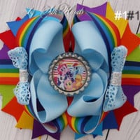 Cinderella Princess Inspired Hair  bow - Princess  Birthday - Over the Top Bow -Princess party - Girls Hair Bows