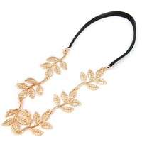 Princess' Dream - New Fashion Gold Leaf Festival Grecian Garland Hippy Forehead Head Hair Band