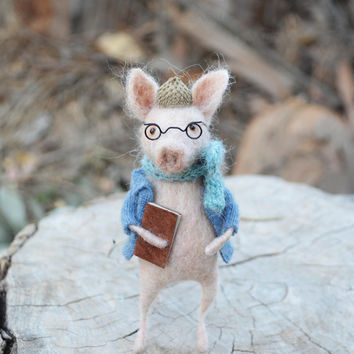 Fairytale Pig - Felting Dreams by Johana Molina - READY TO SHIP