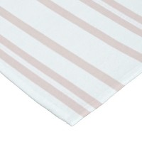 Subtle Light Pink Coral and White Lines Fleece Blanket