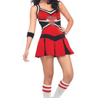 Strappy Chicago Bulls Cheerleader Mini Skater Costume Set