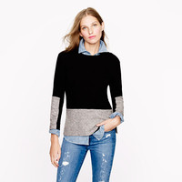 Woven panel sweater in black - sweaters - Women's new arrivals - J.Crew