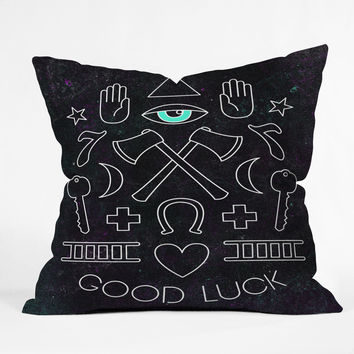 Wesley Bird Good Luck Throw Pillow