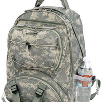 "17"" Digital Camo Water Repellent BackPack"