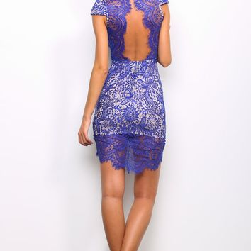HelloMolly | Sultry Dress Cobalt - Dresses