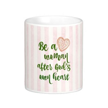 Woman After God's Own Heart Quote Classic White Coffee Mug