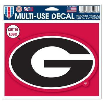 "Licensed Georgia Bulldogs Official NCAA 4.5""x5.75"" MultiUse Car Decal by Wincraft 574992 KO_19_1"