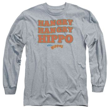 Hungry Hungry Hippos Long Sleeve T-Shirt Hangry Athletic Heather Tee