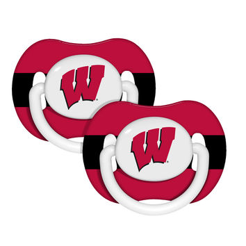 NCAA Wisconsin Badgers Pacifier Set