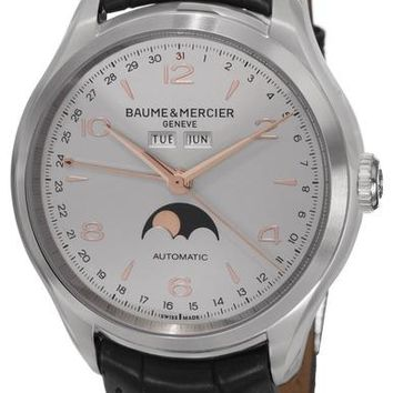 Baume and Mercier Clifton Leather Automatic Watch MOA10055