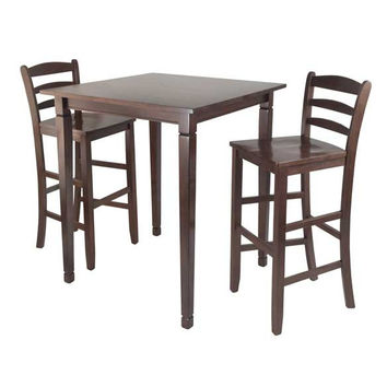 3 Piece Kingsgate High/Pub Dining Table with Ladder Back High Chair