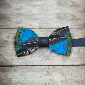 Switchback Feathers Bow Tie