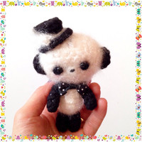 Amigurumi Panda Crochet Panda Crochet Doll Magician Panda Plush Stuffed Animal Kawaii Panda Fuzzy Panda Holiday Gift Idea