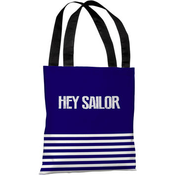 """Hey Sailor"" 18""x18"" Tote Bag by OneBellaCasa"