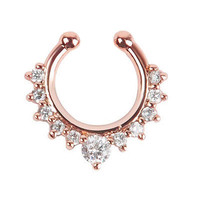 Crystal Cute Faux Septum Nose Ring