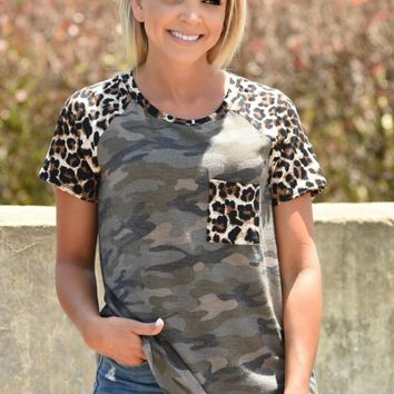 So Much Love Camo Top
