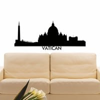 Wall Decal Vinyl Sticker Vatican Skyline City Scape Silhouette Decor Sb138