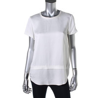 Kate Spade Womens Shimmer Cap Sleeves Pullover Top