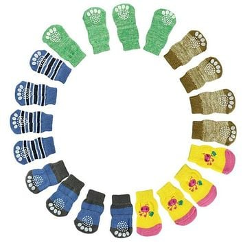 Fashion 4Pcs uynisex  Knits Socks Anti Slip Skid Bottom socks