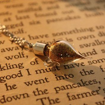 Harry Potter Felix Felicis Vial Necklace by spacepearls on Etsy