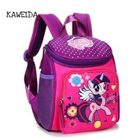 My little pony School bags for Toddler Kids Cute Children Mini Hello Kitty schoolbag Red Mickey Superman Backpack for boys girls