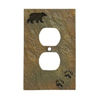Big Sky Bear and Tracks Outlet Cover