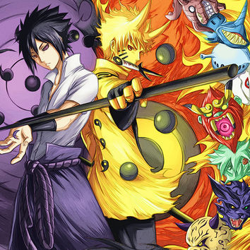 Naruto GIANT Anime Manga HQ Tiled Print Poster, Various sizes from A4,A3