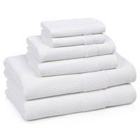 HOTEL TOWELS | Set of 6 | White
