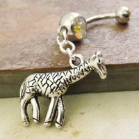 Giraffe Belly Button Ring Belly Jewlery