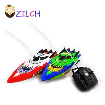 2017 Mini Radio Remote Control Model RC Racing Speedboats barco de pesca Water Boat Gifts for Children Free Shipping