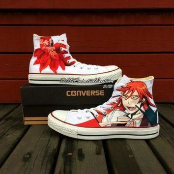 CREYON anime converse sneakers for sale hand painted custom anime shoes black butler fashion