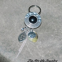 Charm For Pocketbook, Zipper Pull, Long Purse Charm