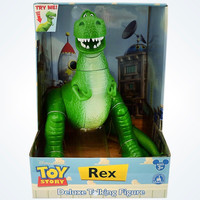 "Disney Parks Toy Story Rex Deluxe 12"" Talking Figure New with Box"