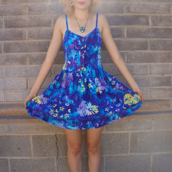 Stars And Moon Tie Dye  Dress by HotelBrahvo on Etsy