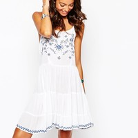 New Look Embroided Strappy Sundress